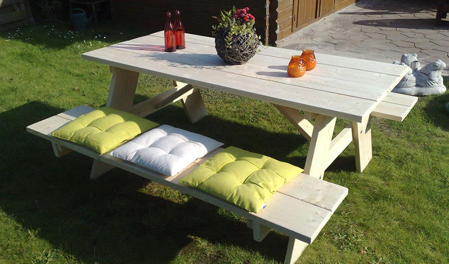 Bouwtekening picknicktafel downloaden? Klik voor .pdf!