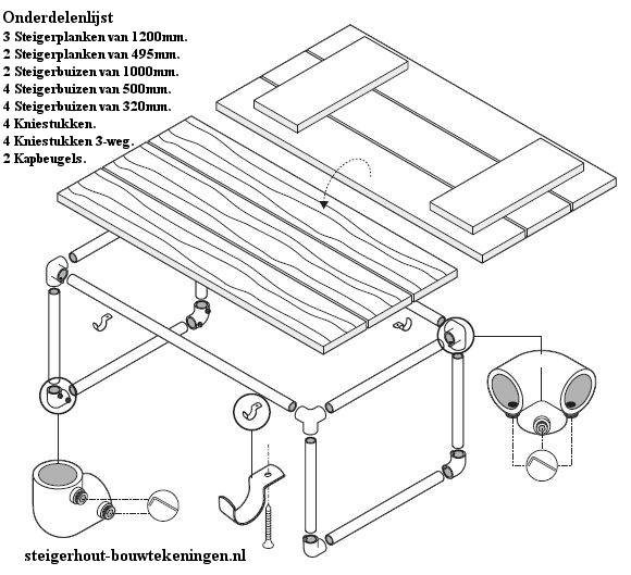 bouwtekening salontafel