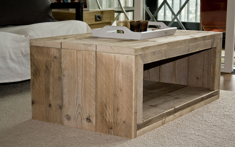 Bouwtekening salontafel nodig? Download hier een .pdf bouwtekening!