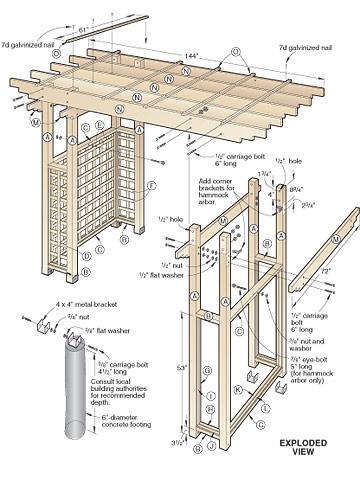 bouwtekening prieel