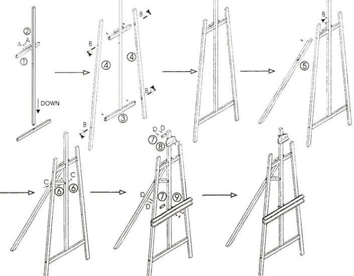 Schildersezel maken eigen huis en tuin halve parasol for Hoofdbord maken eigen huis en tuin