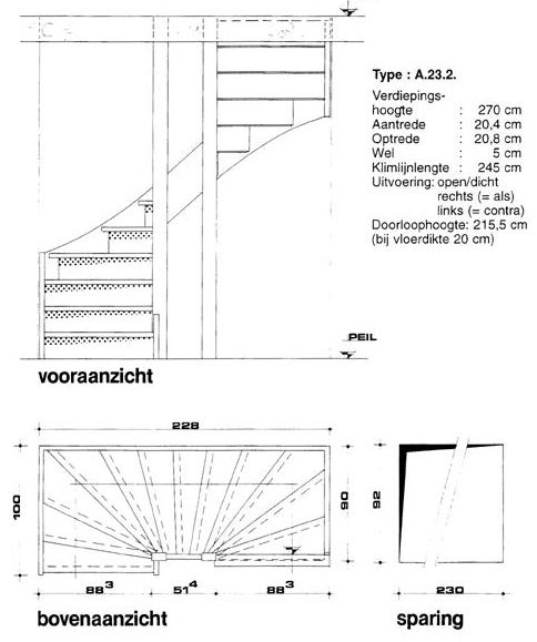 bouwtekening trap